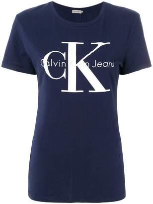 CK Calvin Klein logo patch T-shirt