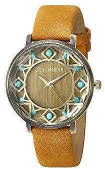 Steve Madden (スティーブ マデン) - Steve Maddenユニセックスsmw058ゴールド腕時計