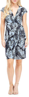 Maggy London Palm Leaf Wrapped Dress