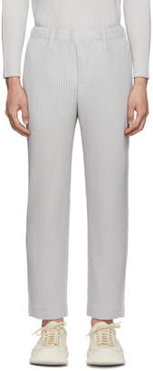 Issey Miyake Homme Plisse Grey Light Tailored Pleats Trousers