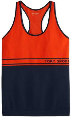 Tory Sport TWO-TONE SEAMLESS RACERBACK TANK