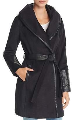 Via Spiga Belted Shawl Collar Coat