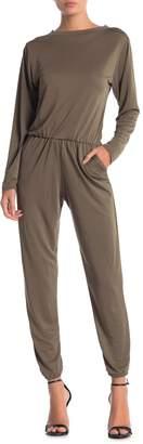 Couture Go Crew Neck Long Sleeve Jumpsuit