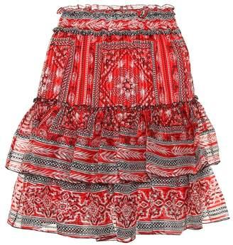 Isabel Marant Erine printed silk miniskirt