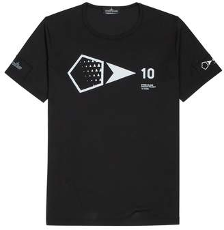 Stone Island X Shadow Project 10 Years Black Printed Cotton T