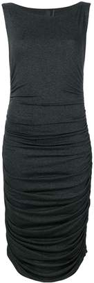 Norma Kamali ruched jersey dress