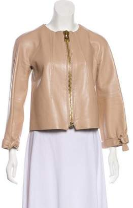 Tom Ford Bow-Accented Leather Jacket