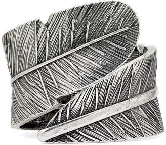 Decree Leaf Hinged Cuffed Bracelet