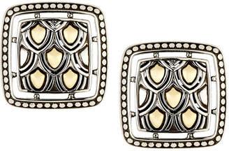 John Hardy Naga Two-Tone Square Post Earrings