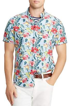 Polo Ralph Lauren Short-Sleeve Floral-Print Classic Fit Button-Down Shirt