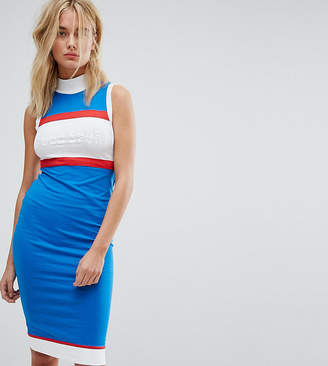 Le Coq Sportif Exclusive To ASOS High Neck Midi Dress