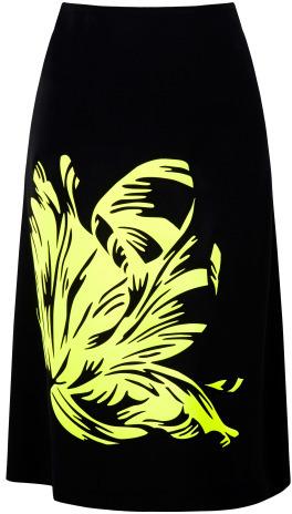 Jonathan Saunders Preorder Clark Parrot Tulip Skirt In Black