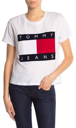 Tommy Jeans '90s Flock Logo Tee