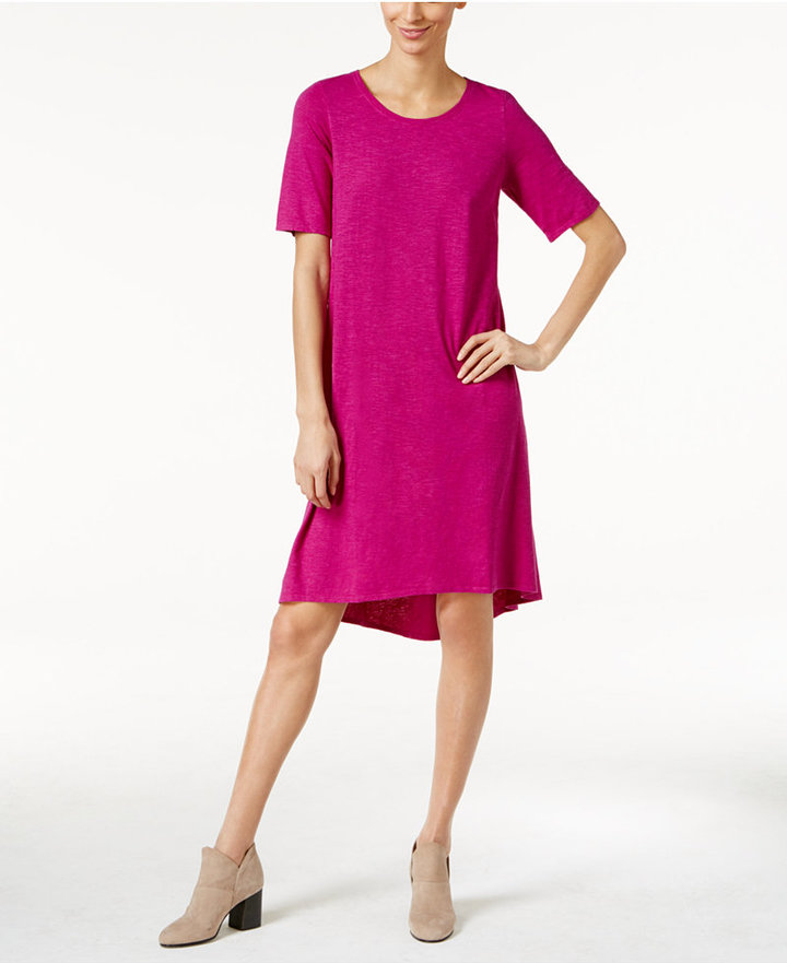 Eileen Fisher Hemp-Organic Cotton Shift Dress