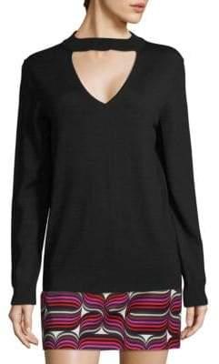 Trina Turk Graham Choker Cutout Sweater