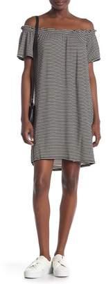 Bobeau Off-The-Shoulder Knit Dress