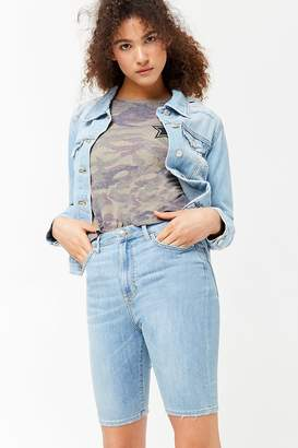 Forever 21 Stretch-Denim Bermuda Shorts