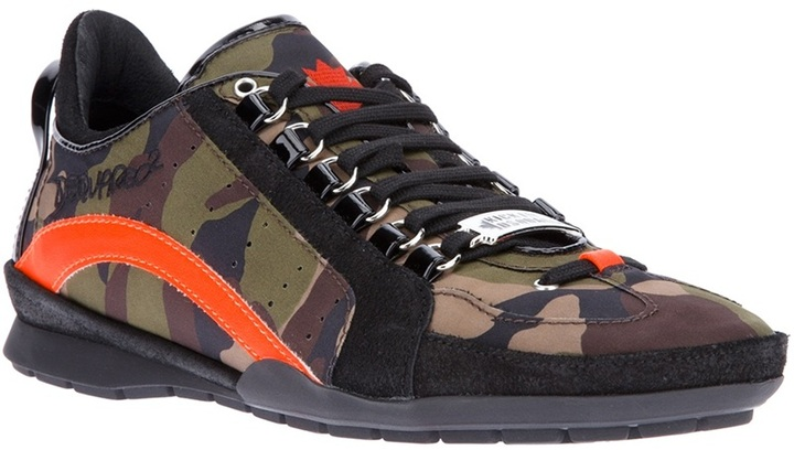 DSquared Dsquared2 camouflage trainer