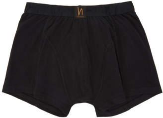 Nudie Jeans Black Solid Boxer Briefs