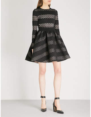 Maje Relane geometric-patterned lace mini dress