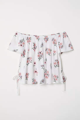 H&M Off-the-shoulder Blouse - White