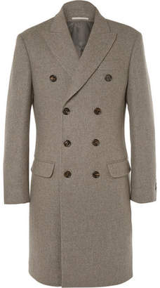 Brunello Cucinelli Double-Breasted Wool Overcoat