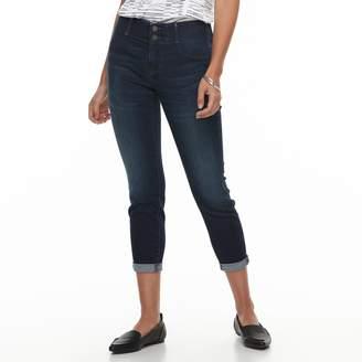 Apt. 9 Petite Tummy Control Cuffed Capri Jeans