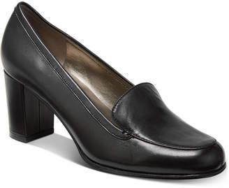 Bandolino Ambrocio Stacked Block-Heel Loafer Pumps