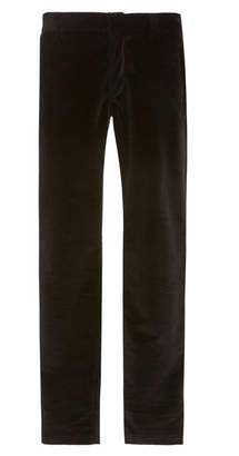 Balmain Skinny Cotton Velvet Dress Pants