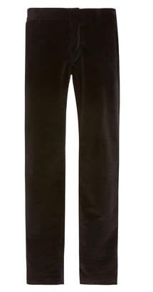 Balmain Skinny Cotton Velvet Dress Pants