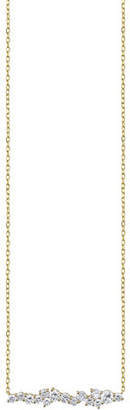 Sydney Evan Cocktail 14k Diamond Short Bar Pendant Necklace