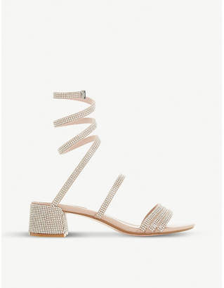 Dune Micka diamante ankle strap sandals