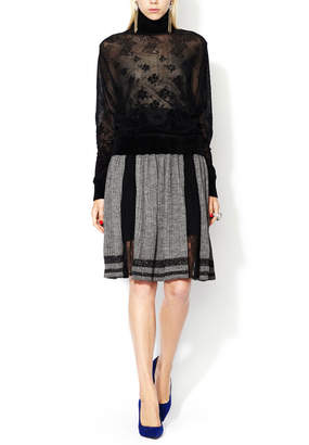 Jean Paul Gaultier Pleated Lace Panel Skirt
