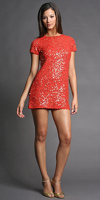 Sequined Knit Shift Dresses by Manoush