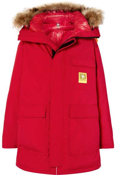 Brumal - Oversized Hooded Down Parka - Red