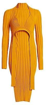 Proenza Schouler Women's Ribbed Harness Midi Dress