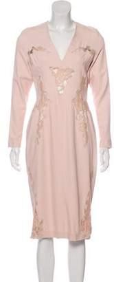 Altuzarra Lace-Trimmed Sheath Dress