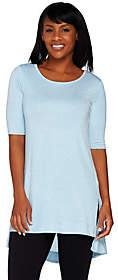 Lisa Rinna Collection Knit Tunic with SideSlits