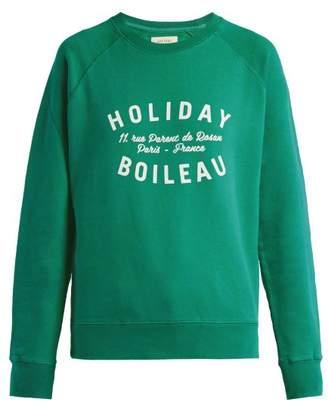 Holiday Boileau - Logo Print Sweatshirt - Womens - Green