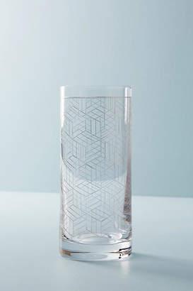 Anthropologie Linear Highball Glass