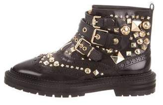 Burberry Embellished Ankle Boots