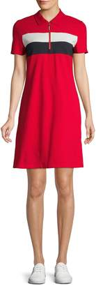 Tommy Hilfiger Short Sleeve Quarter Zip Polo Dress