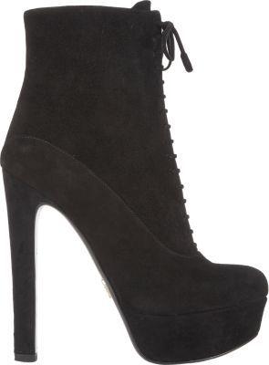 Prada Lace-Up Platform Ankle Boots