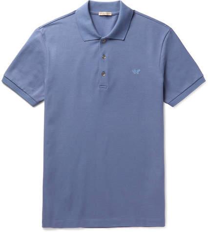 Bottega Veneta Slim-Fit Cotton-Piqué Polo Shirt