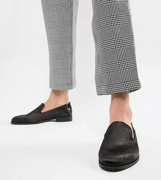 House of Hounds House Of Hounds Wide Fit Hawk loafers in black pebble