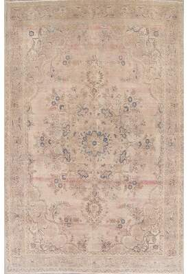 "Astoria Grand Antique Muted Miranda Persian Oriental Handmade Wool Distressed Rug 14'11""X9'7"" Astoria Grand"