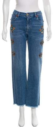 Etro Mid-Rise Embellished Jeans w/ Tags