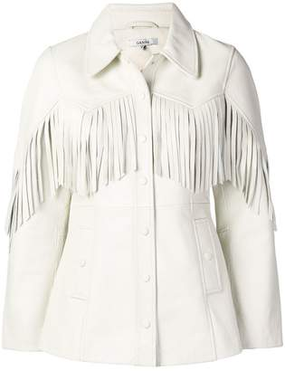 Ganni Angela fringed jacket