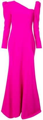 Christian Siriano long-sleeve flared dress