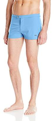 Parke & Ronen Men's Lancaster Solid 2 inch Swim Short
